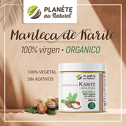 Manteca de Karité Ecológica 400g - 100% Vegetal - Sin aditivos - Sin Refinar