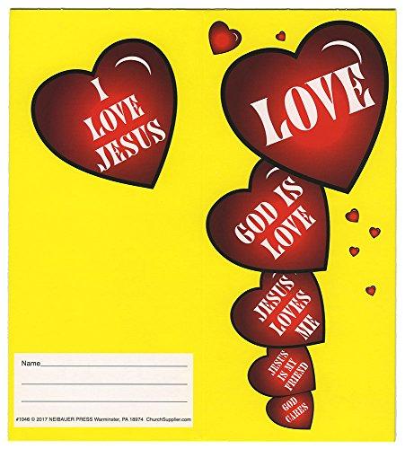 ChurchSupplier.com Love Jesus Loves Coin Folders Holds $10.00 (Pkg of 50) Christian School