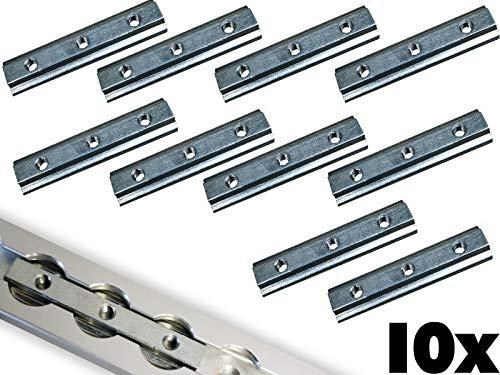 NTG 10 x Nutenstein für Airlineschienen Stahl verzinkt M6 Ladungssicherung Fitting 3xM6