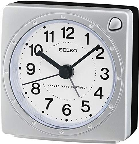 Seiko Funkwecker silber Kunststoff QHR201S