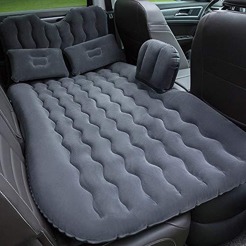 ZSLD Opblaasbaar bed voor op de camping, luchtmatras, kussen, bed met elektrische matras, pomp geschikt voor universele SUV, vrachtwagen, minivan compacte twin afmetingen