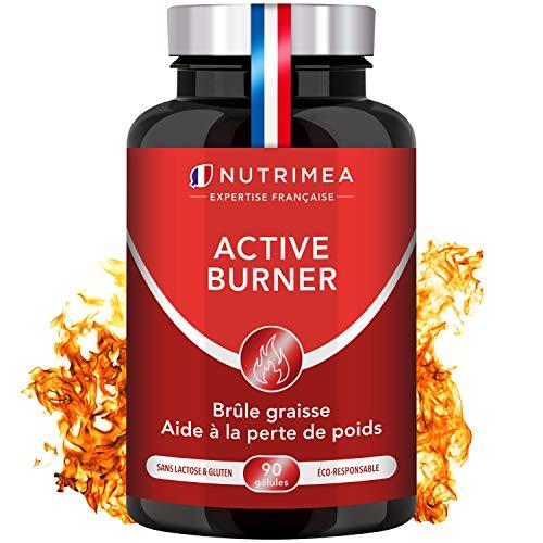 FAT BURNER - ACTIVE BURNER - Complemento a base de plantas - Quemagrasas potente - Pérdida de peso - 90 capsulas veganas - Supresor del Apetito