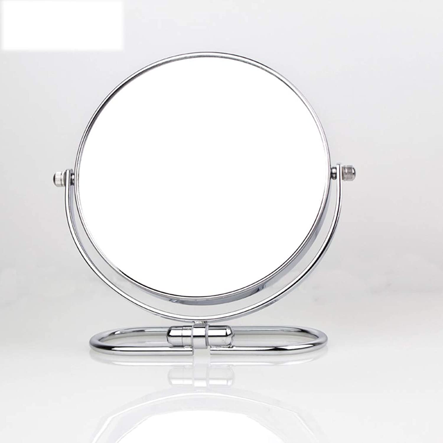 Portable Double-Sided Magnifying Mirror Folding Wall-Mounted Mirror Desktop Beauty Mirror 6-inch Dressing Mirror