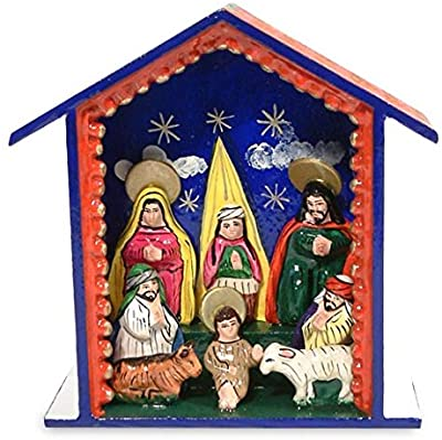 NOVICA Blessed are Those Who Come Nativity Scene Sculpture