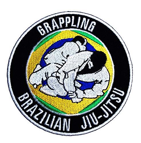 Para Jiu Jitsu parche bordado/para coser en la selección de fútbol de 9 cm de decoración con apliques de agarre de Gi BJJ juego de chapas