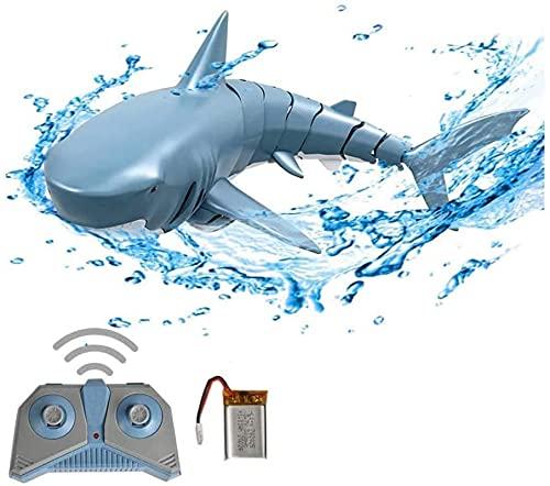 Giocattolo di squalo elettrico, RC Shark Fish Boat Sottomarino Mini Radio Remote Control Swimming Shark Bath Bath Toy