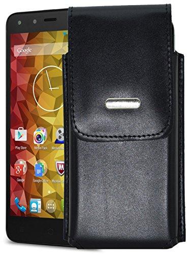 Vertikal Etui für / Medion Life X5001 (MD 98499) / Köcher Tasche Hülle Ledertasche Vertical Hülle Handytasche mit einer Gürtelschlaufe auf der Rückseite