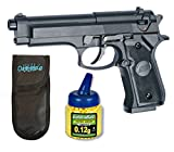 Pack Pistola Airsoft M92 Negra. Calibre 6mm. + Funda Outletdelocio + Biberon 1000 Bolas. 23054/21993