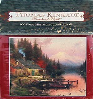 Thomas Kinkade Painter of Light 100pc. Miniature Puzzle-The End of a Perfect Day