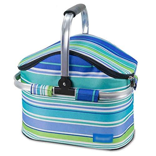 BANANAJOY Cesta de picnic de, La bolsa de picnic Oxford tela impermeable y resistente al desgaste de picnic al aire libre caja de la cesta de aislamiento bolsa de hielo bolsa de aislamiento Aislamient
