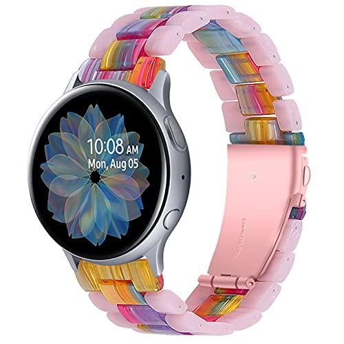 TopTen Correa de repuesto de resina de 20 mm, compatible con Samsung Galaxy Watch 3 de 41 mm, Galaxy Watch de 42 mm (C)