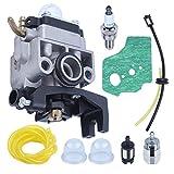 Adefol Carburador + Kit de Manguera de Combustible +Empaquetadura para Honda GX35 HHT35 HHT35S 4 Tiempos Recortadora de Motor 16100-Z0Z-034 Soplador de césped