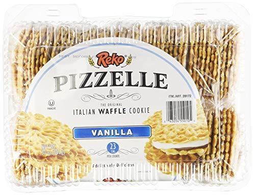 Reko Pizzelle Italian Waffle Cookie 20oz. Vanilla
