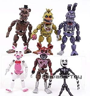 TIKIDA PVC Action Figure Dy Fazbear Bear Dolls Toys 6Pcs/Set Must Have Tools Friendship Gifts Boys Favourite Characters Superhero Party Decorations Mini Unboxing