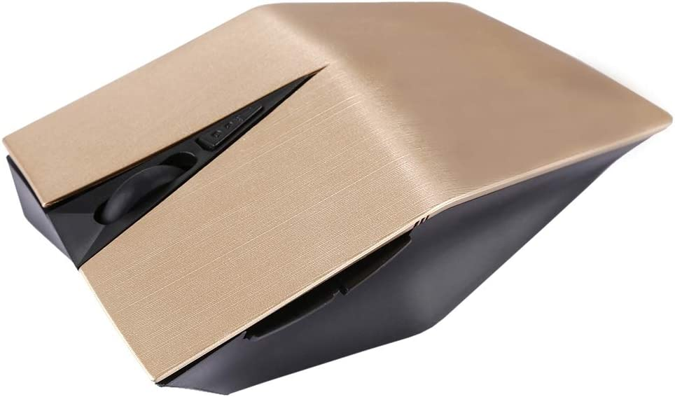 Alice Keyboard 2.4GHz USB Receiver Adjustable 1200 DPI Wireless Optical Mouse for Computer PC Laptop Color : Gold Black