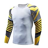 KERVINFENDRIYUN YY4 Herren Langarm Laufen Fitness Workout Kompression Base Layer Shirt -