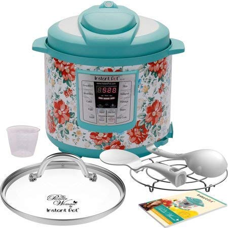 Pioneer Woman Instant Pot 6qt 6 Quart Programmable Pressure Cooker Slow Electric Multi Use Rice Saute Cooking Steamer Warmer (1, Vintage Floral)