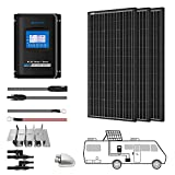 ACOPOWER 300 Watts 12/24 Volts Monocrystalline Panel Solar RV Kits with 30A MPPT LCD Charge Controller/Mounting Brackets/Y Connectors/Solar Cables/Cable Entry housing (3x100W Kit)