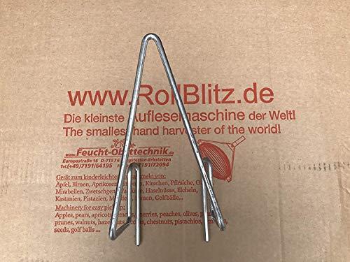 Feucht Obsttechnik Entleerbügel für den Apfel Sammler - - der Roll-Blitz die kleinste Obstaufsammelmaschine der Welt direkt vom Hersteller für Äpfel UVM (Silber small)