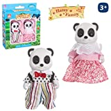 Juguetes Industriales Pack de 2 Osos Pandas flocados Happy Family Medida 8 cm