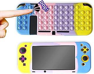 Capa protetora para Nintendo Switch Lite, Relieve Stress Push Pop Bubble Sensorial Toy Design, Capa à prova de choque, Con...