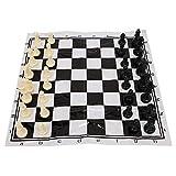 Alomejor Juego de ajedrez Juego de ajedrez Internacional de plástico portátil con...