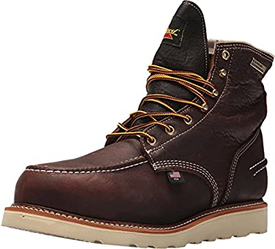 "Thorogood 804-3600 Men's 6"" Moc Toe, MAXwear Wedge Waterproof Safety Toe, Briar Pitstop - 9 2E US"