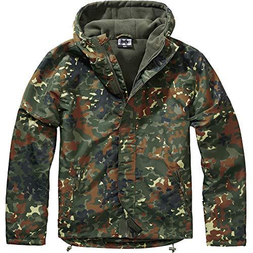 BWuM Windbreaker MIT Zipper Regenjacke NÄSSESCHUTZ Windjacke GEFÜTTERT Jacke RV, Größe:XL, Farbe:Flecktarn