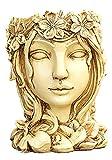 FHISD Maceta de Resina, Escultura de Retrato, Planta artística, Maceta, contenedor de plantación en Maceta para Interior y Exterior, decoración del hogar, artesanía de Resina,