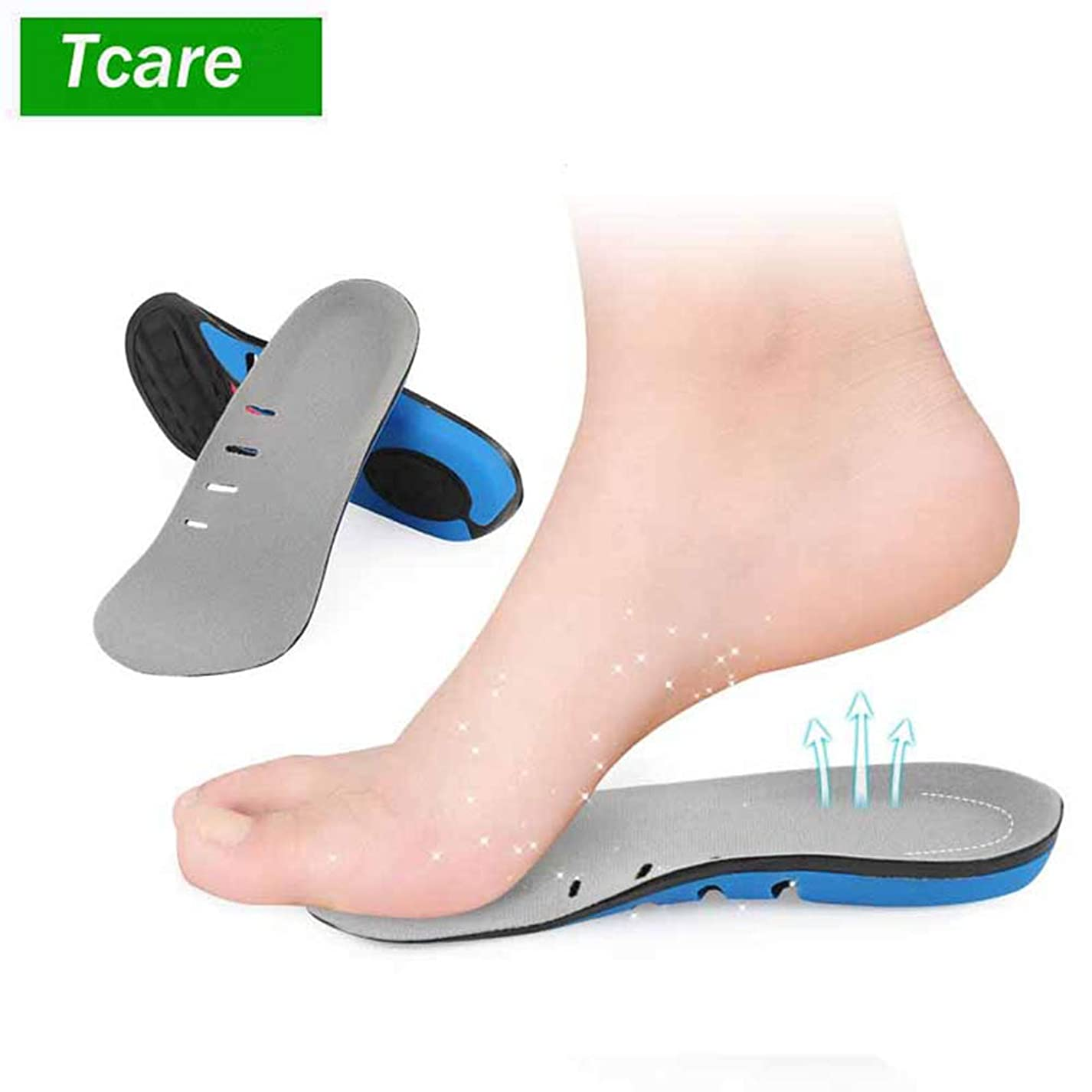 変色する行進漁師靴のマッサージシューズのインソールは、男性用/女性用の足底筋膜炎用インソール