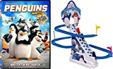 Bird Game Penguins Skipper Penguins of Madagascar Dreamworks Animated Fun Movie DVD Cartoon + Slide Race Toy Arctic Critter Racers Fun Pack
