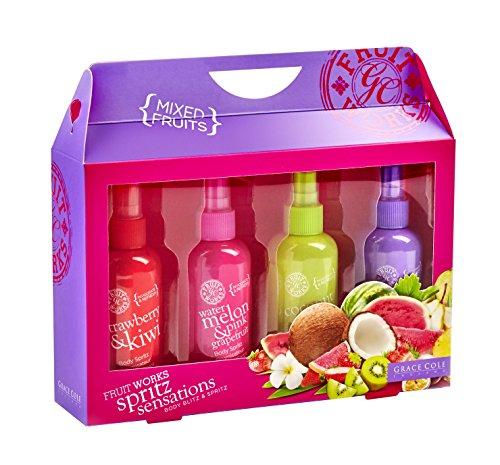 Grace Cole Fruit Works Spritz Sensations Lot : 4 x 100milliliter Corps Blitz assortis Parfum