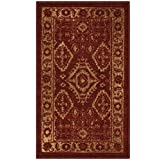 Maples Rugs Georgina Traditional Kitchen Non Skid Accent Area Rug [Made in USA], Red/Gold, 1'8 x 2'10