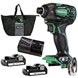 Metabo HPT 18V MultiVolt Cordless Triple Hammer Impact Driver Kit   4-Stage Electronic Speed Switch...