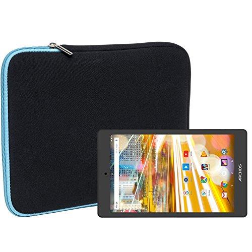 Slabo Tablet Tasche Schutzhülle für Archos 80 Oxygen Hülle Etui Hülle Phablet aus Neopren – TÜRKIS/SCHWARZ