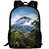 XCNGG Naturaleza Paisaje Montañas Fotografía Nubes Exhibición de retrato Niebla Árboles Bosque Selva tropical Moda Al aire libre Bolsa de hombro Durable Viaje Camping Mochila para adultos