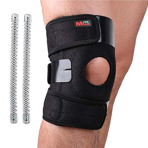 2 Springs Breathable Knee Support, Non-Slip Knee Brace Sleeve Wraps with Stabilizer and Neoprene...