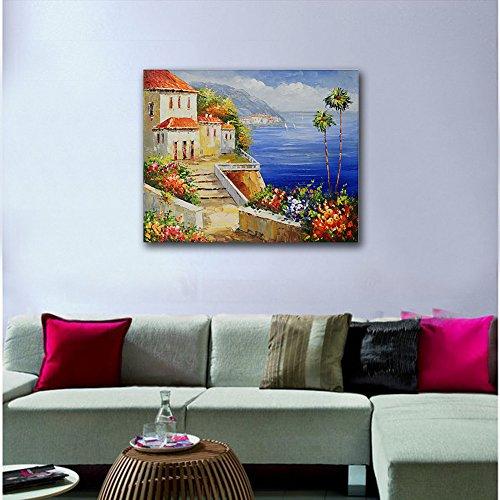 Raybre Art 50 * 60 cm 100% Dipinti a mano Olio - Quadri su Tela come Panorama Paesaggio Quadri Retrò Vintage Casa Fiori Mare - Decorazione della Parete di Arte, Senza Cornice