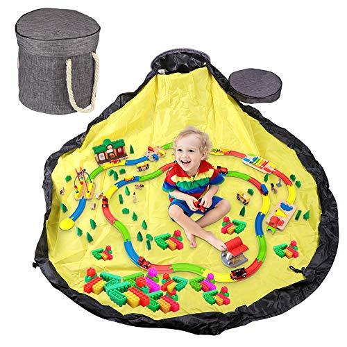 Kinder Aufräumsack Spieldecke, Aufbewahrungsbeutel für Kinder Zimmer,Lego Sack Spielzeugsack, Kinder Teppiche Aufbewahrung Beutel Spielzeug, Aufbewahrungsbox mit Deckel, Spielzeug Aufbewahrung Tasche