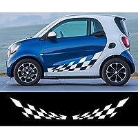 車のステッカー サイドスカート デコレーション, メルセデスベンツスマートフォーツーW453W45の場合、車のドア側の格子ステッカー1レーシングボディの装飾