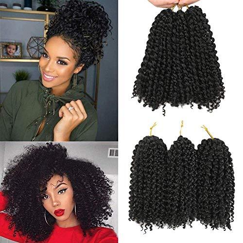 Marlybob/bouclés Curl (3/set) 20,3 cm Synthétique Cheveux bouclés Wave Crochet tressage