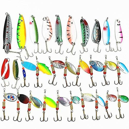 Plhzh Cebo,30 Juegos De Cebo Flash Compuesto Giratorio, Lámina De Hierro De Color En Forma De Pez, Una Combinación De Equipo De Pesca Y Cebo