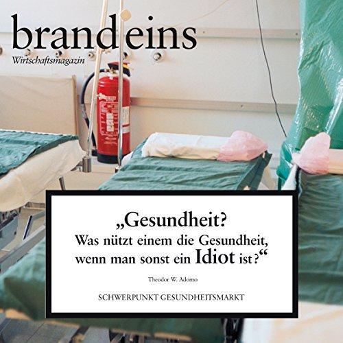 brand eins audio: Gesundheitsmarkt audiobook cover art