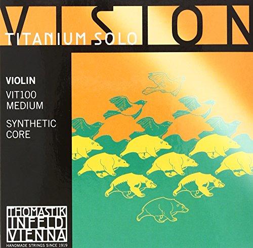 Thomastik Vision Titanium Solo VIT100 - Juego de Cuerdas para Violin
