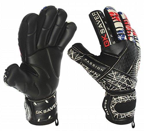 GK Saver Torwarthandschuhe Fußball Negative Cut Passion Unity UK Flag Pro Glove, Torwarthandschuhe, JA Fingersave Keine Personalisierung, Größe 9