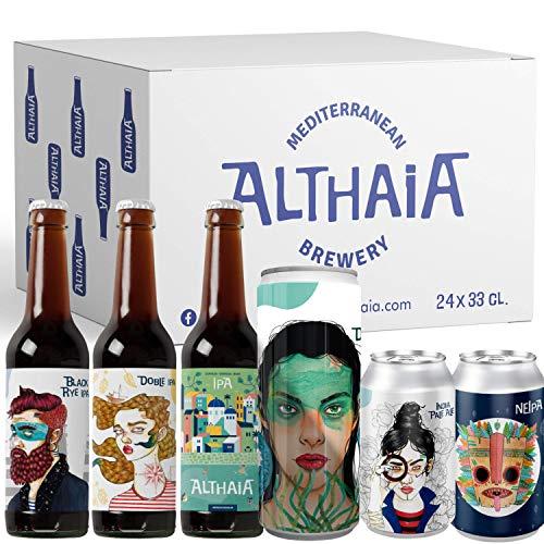 Pack IPA Selección - Caja 24 unidades - Cerveza artesana - Premiadas Internacionalmente. Cervezas Althaia. Botella 33cl.Craft Beer.