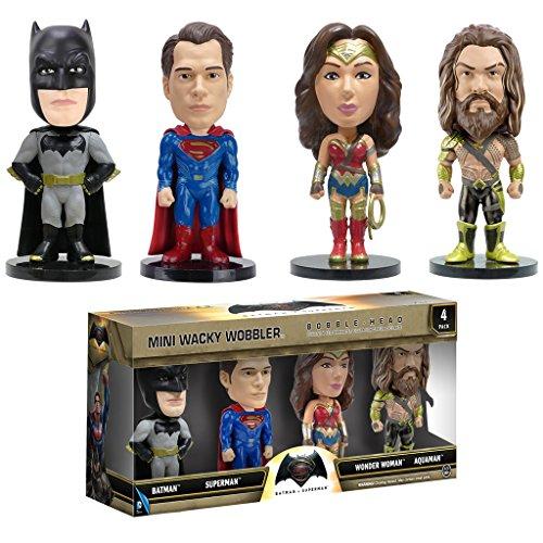 映画 Batman v Superman: Dawn of Justice(バットマン vs スーパーマン ジャスティスの誕生)Mini Wacky Wobbler Bobble-Head Four Pack [並行輸入品]