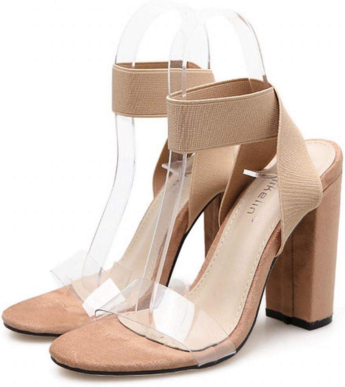 FELICIGG Damensandalen mit hohem Absatz und elastischen Sandalen mit hohem Absatz (Farbe   Aprikosen, Größe   36)  | Billiger als der Preis  | Erschwinglich  | Sale Online