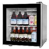 Beverage Cooler and Fridge With Glass Reversible Door Beverage Refrigerator (1.6 cubic feet)