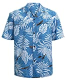 Hawaiian Shirts for Men Short Sleeve Regular Fit Mens Floral Shirts (YH1902,M)